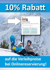 Winter Verleihzentrum und Skischule direkt in Hochoetz
